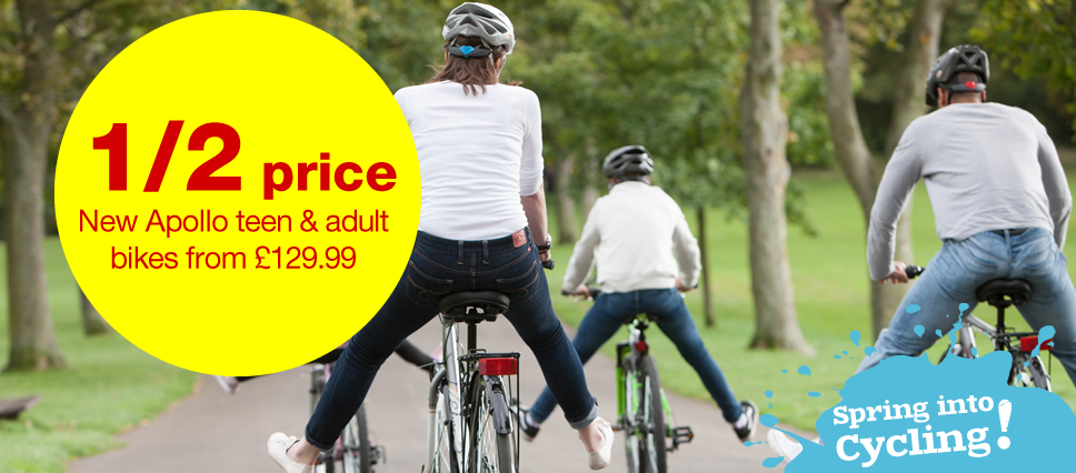 Save 1/2 New Apollo Teens & Adults + Free Standard Delivery On Orders Over £30 at HalFords.com